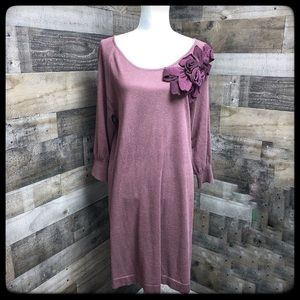 Lauren Conrad dark mauve sweater dress size L